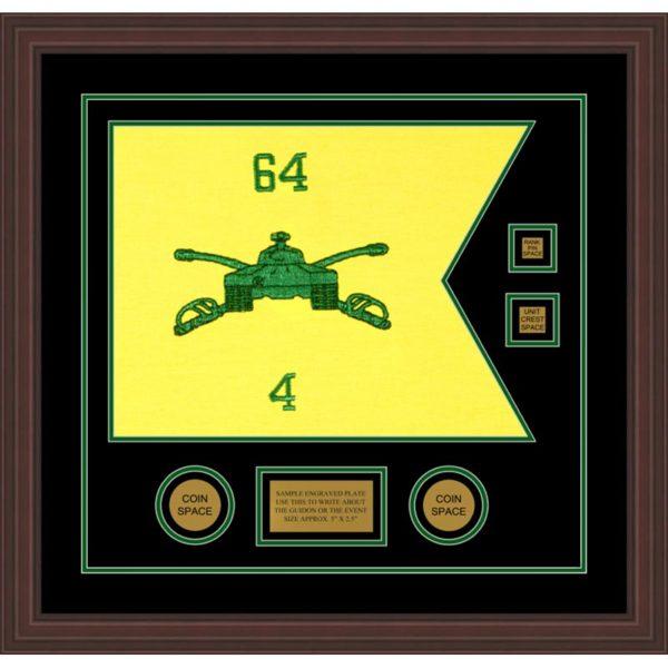"Armor Corps 20"" x 15"" Guidon Design 2015-D3-M6 Framed"