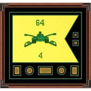 "Armor Corps 28"" x 20"" Guidon Design 2820-D3-M4 Framed"