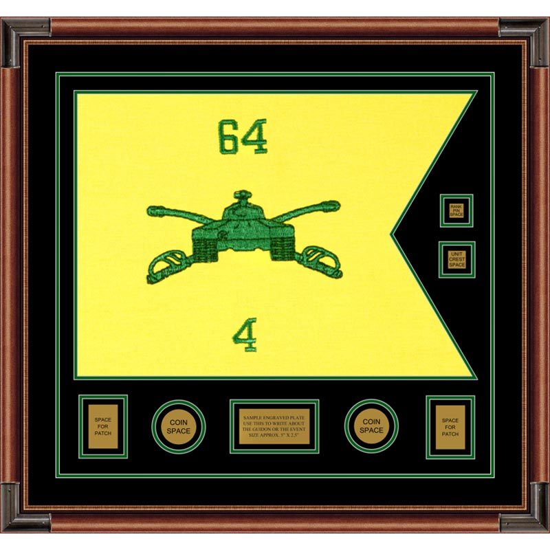 "Armor Corps 28"" x 20"" Guidon Design 2820-D3-M4 Framed"