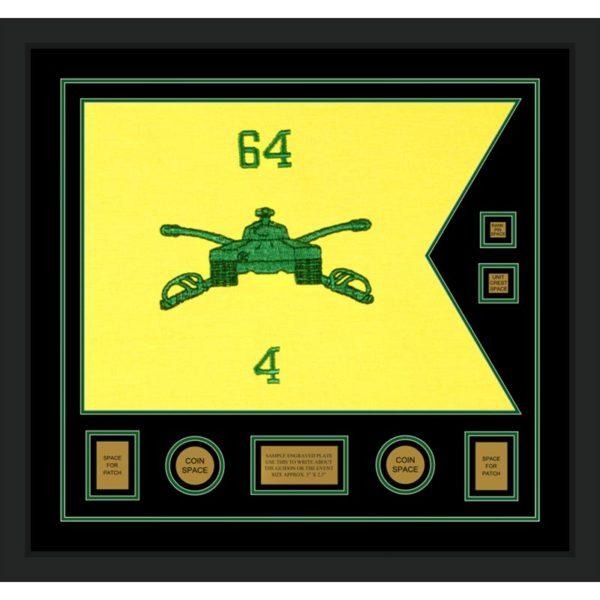 "Armor Corps 28"" x 20"" Guidon Design 2820-D3-M5 Framed"
