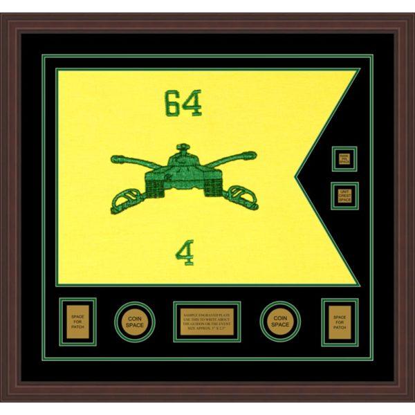 "Armor Corps 28"" x 20"" Guidon Design 2820-D3-M6 Framed"