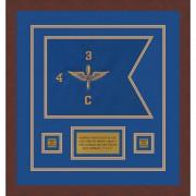"""Aviation 12"""" x 9"""" Guidon Design 129-D1-M3 Framed"""