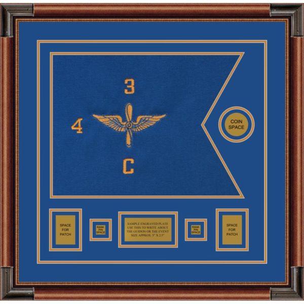 """Aviation 20"""" x 15"""" Guidon Design 2015-D1-M4 Framed"""