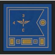 """Aviation 20"""" x 15"""" Guidon Design 2015-D1-M5 Framed"""