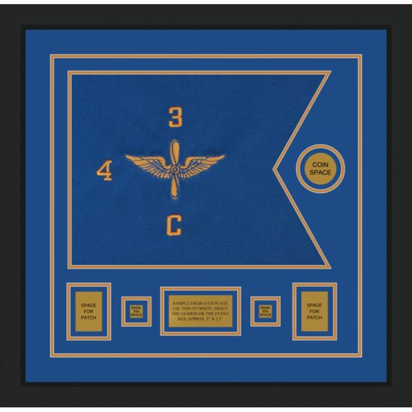 "Aviation 20"" x 15"" Guidon Design 2015-D1-M5 Framed"