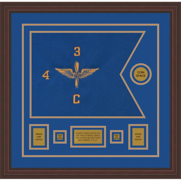 "Aviation 20"" x 15"" Guidon Design 2015-D1-M6 Framed"