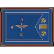 """Aviation 28"""" x 20"""" Guidon Design 2820-D1-M4 Framed"""