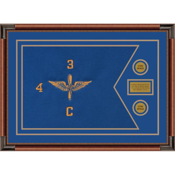 "Aviation 28"" x 20"" Guidon Design 2820-D1-M4 Framed"