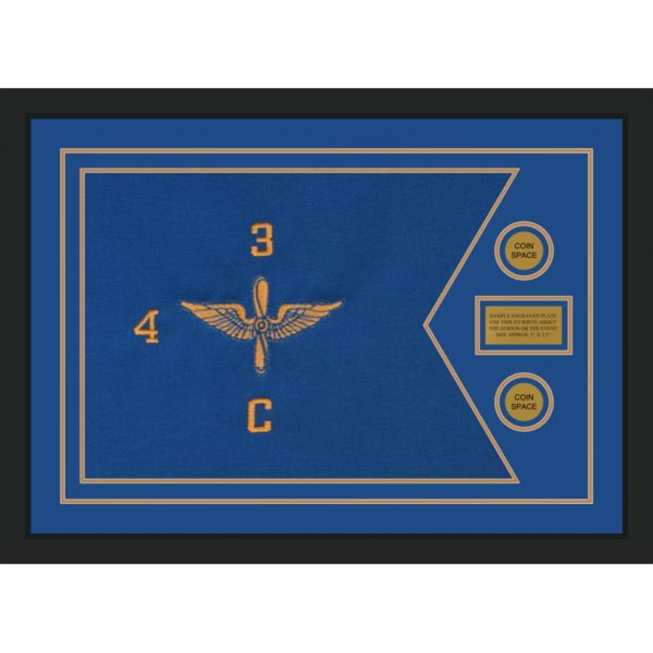 "Aviation 28"" x 20"" Guidon Design 2820-D1-M5 Framed"