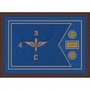 """Aviation 28"""" x 20"""" Guidon Design 2820-D1-M6 Framed"""