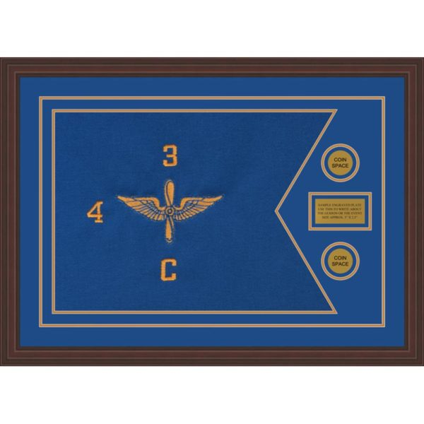"Aviation 28"" x 20"" Guidon Design 2820-D1-M6 Framed"