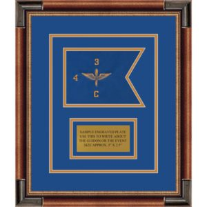 "Aviation 7"" x 5"" Guidon Design 75-D1-M1 Framed"