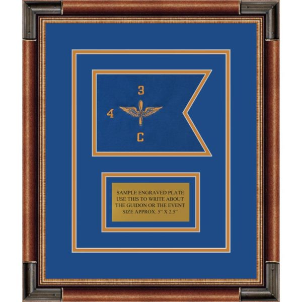 """Aviation 7"""" x 5"""" Guidon Design 75-D1-M1 Framed"""