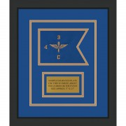 "Aviation 7"" x 5"" Guidon Design 75-D1-M2 Framed"