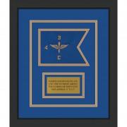 """Aviation 7"""" x 5"""" Guidon Design 75-D1-M2 Framed"""