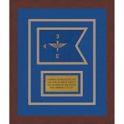 """Aviation 7"""" x 5"""" Guidon Design 75-D1-M3 Framed"""