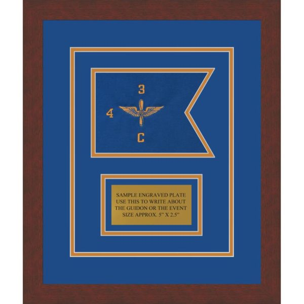 "Aviation 7"" x 5"" Guidon Design 75-D1-M3 Framed"