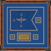 """Aviation 12"""" x 9"""" Guidon Design 129-D2-M1 Framed"""