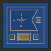 """Aviation 12"""" x 9"""" Guidon Design 129-D2-M2 Framed"""