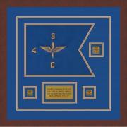 """Aviation 12"""" x 9"""" Guidon Design 129-D2-M3 Framed"""