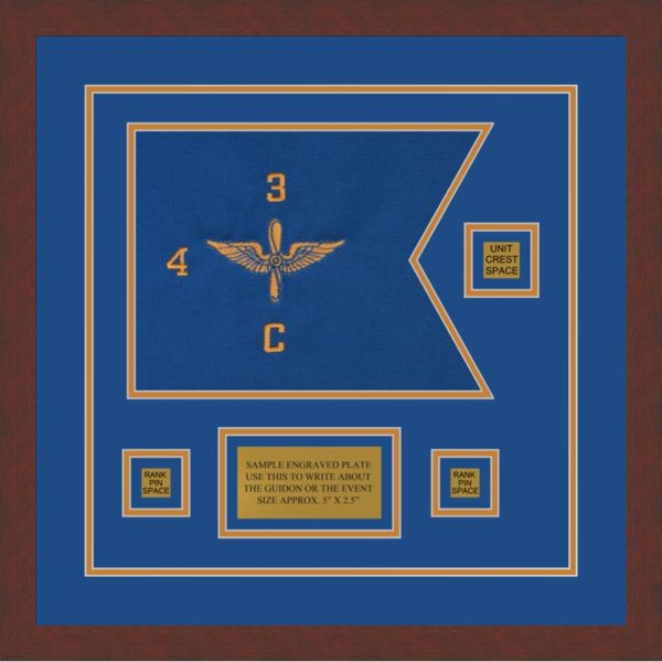 "Aviation 12"" x 9"" Guidon Design 129-D2-M3 Framed"