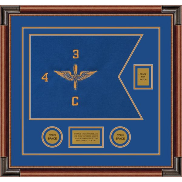 "Aviation 20"" x 15"" Guidon Design 2015-D2-M4 Framed"