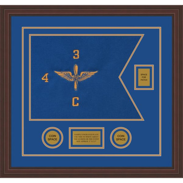 "Aviation 20"" x 15"" Guidon Design 2015-D2-M6 Framed"