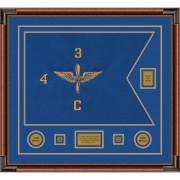 """Aviation 28"""" x 20"""" Guidon Design 2820-D2-M4 Framed"""