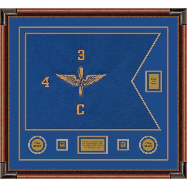 "Aviation 28"" x 20"" Guidon Design 2820-D2-M4 Framed"