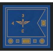 """Aviation 28"""" x 20"""" Guidon Design 2820-D2-M5 Framed"""