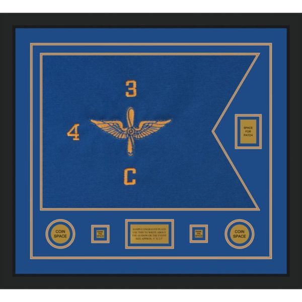 "Aviation 28"" x 20"" Guidon Design 2820-D2-M5 Framed"