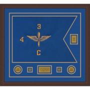 """Aviation 28"""" x 20"""" Guidon Design 2820-D2-M6 Framed"""