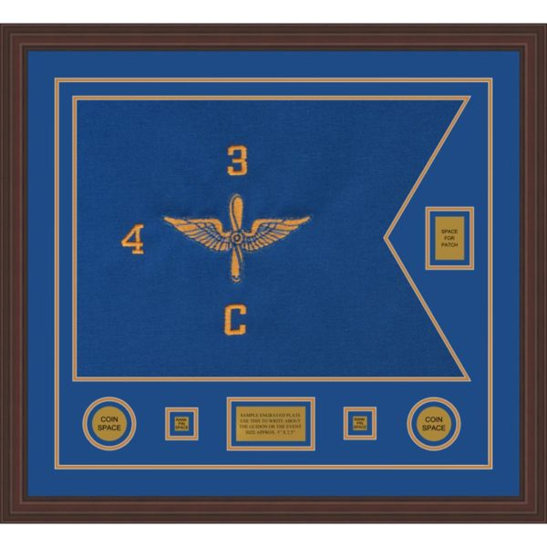 "Aviation 28"" x 20"" Guidon Design 2820-D2-M6 Framed"