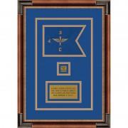 """Aviation 7"""" x 5"""" Guidon Design 75-D2-M1 Framed"""