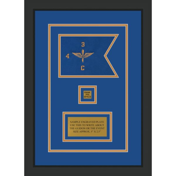 """Aviation 7"""" x 5"""" Guidon Design 75-D2-M2 Framed"""