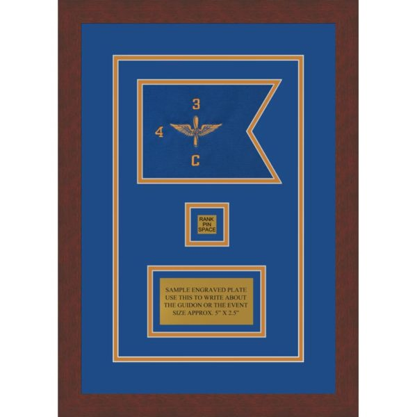 "Aviation 7"" x 5"" Guidon Design 75-D2-M3 Framed"