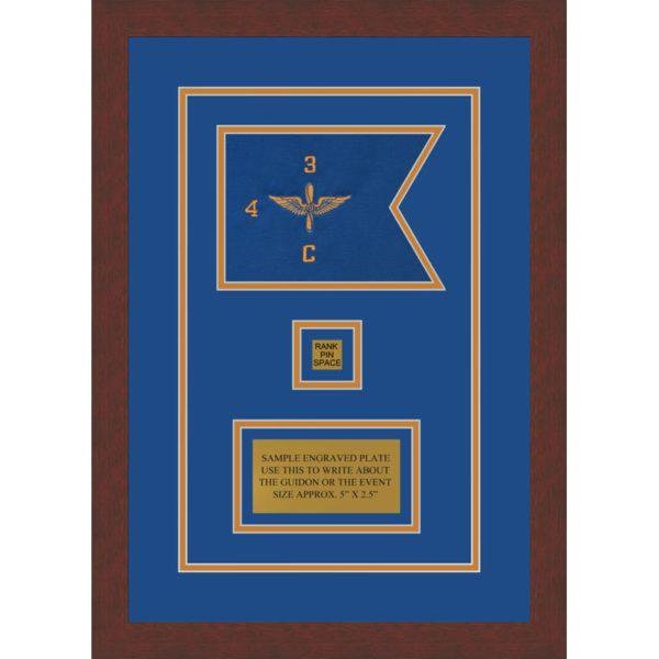 """Aviation 7"""" x 5"""" Guidon Design 75-D2-M3 Framed"""