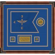 """Aviation 12"""" x 9"""" Guidon Design 129-D3-M1 Framed"""