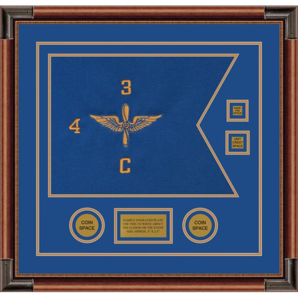 "Aviation 20"" x 15"" Guidon Design 2015-D3-M4 Framed"