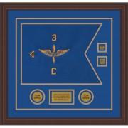 """Aviation 20"""" x 15"""" Guidon Design 2015-D3-M6 Framed"""