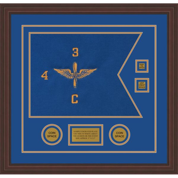 "Aviation 20"" x 15"" Guidon Design 2015-D3-M6 Framed"