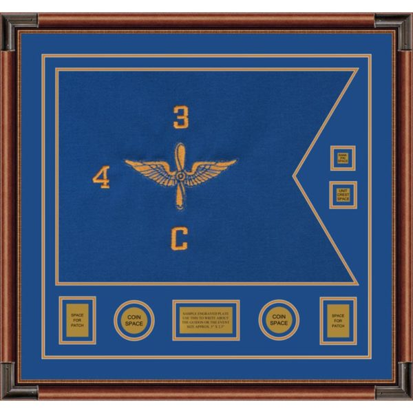 "Aviation 28"" x 20"" Guidon Design 2820-D3-M4 Framed"