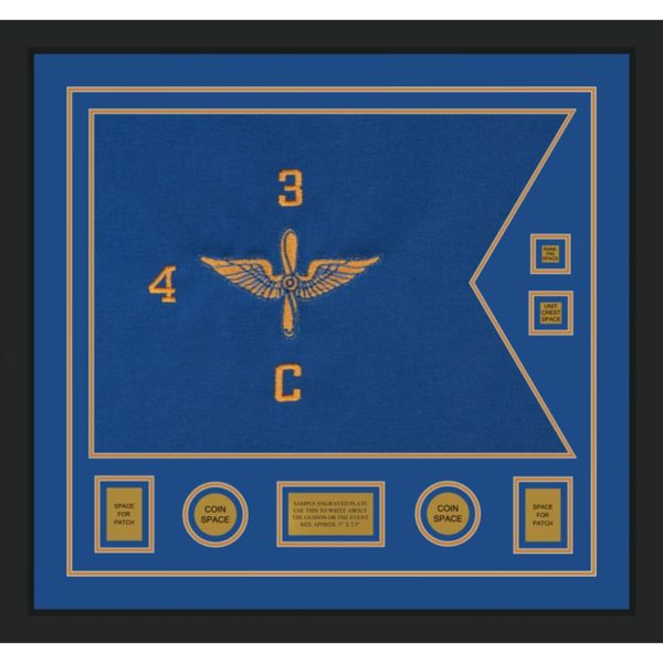 "Aviation 28"" x 20"" Guidon Design 2820-D3-M5 Framed"
