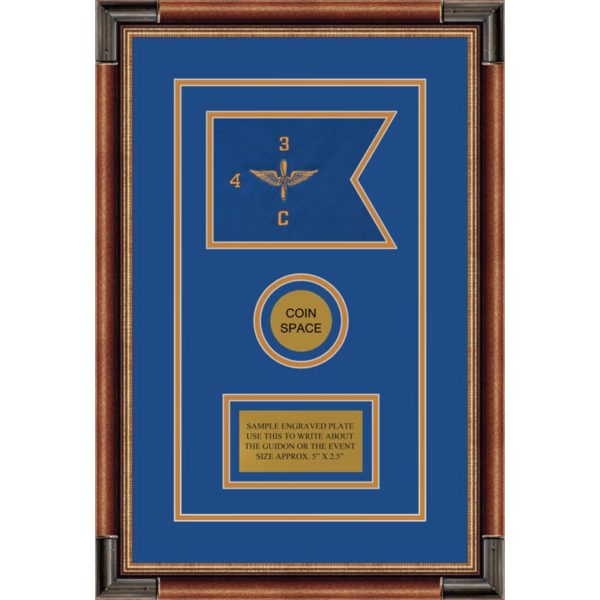 "Aviation 7"" x 5"" Guidon Design 75-D3-M1 Framed"