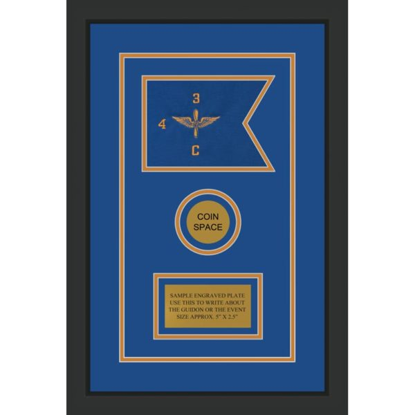"Aviation 7"" x 5"" Guidon Design 75-D3-M2 Framed"