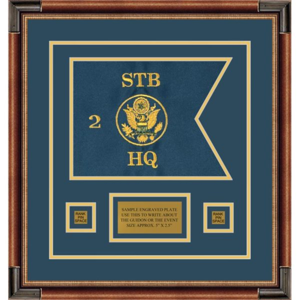 "Branch Immaterial 12"" x 9"" Guidon Design 129-D1-M1 Framed"