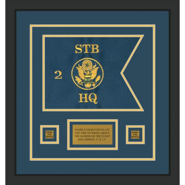 "Branch Immaterial 12"" x 9"" Guidon Design 129-D1-M2 Framed"