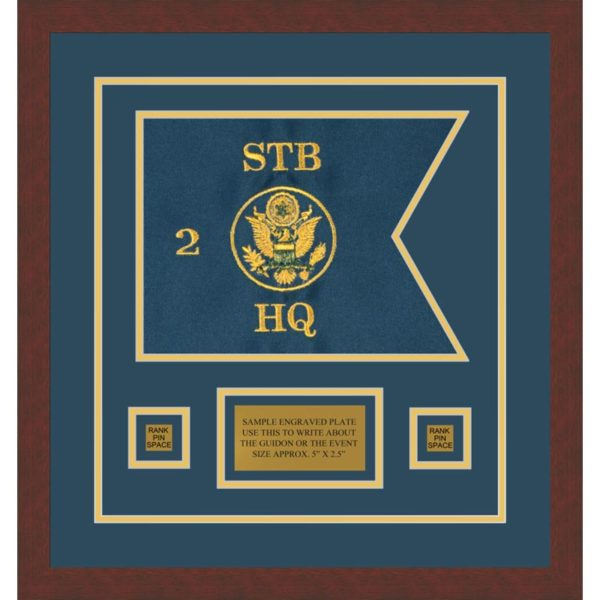 "Branch Immaterial 12"" x 9"" Guidon Design 129-D1-M3 Framed"