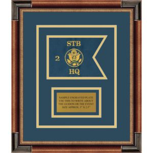 "Branch Immaterial 7"" x 5"" Guidon Design 75-D1-M1Framed"