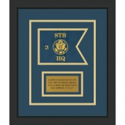"Branch Immaterial 7"" x 5"" Guidon Design 75-D1-M2 Framed"